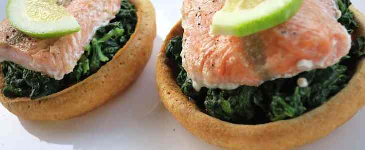 Keto Deconstructed Salmon and Spinach En Croute