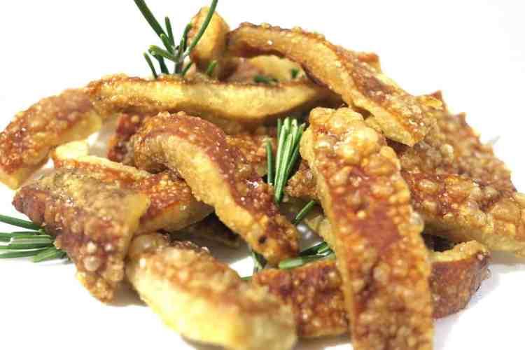 Easiest Keto Snack of Crispy Pork Crackling Strips