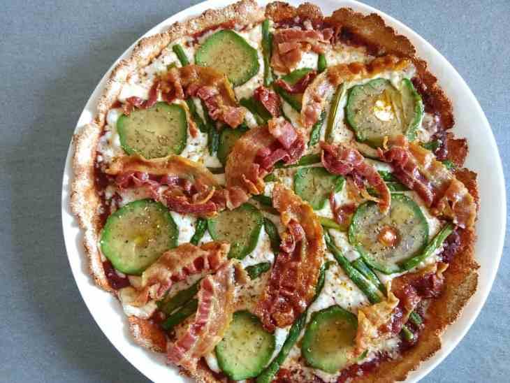 Bacon Avocado & Asparagus Keto High Fibre Pizza