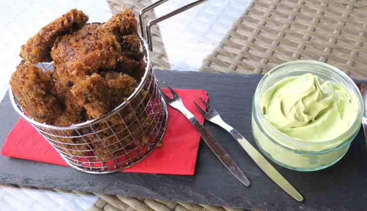 Crunchy Cricket Chicken Nuggets & Avocado Mayo