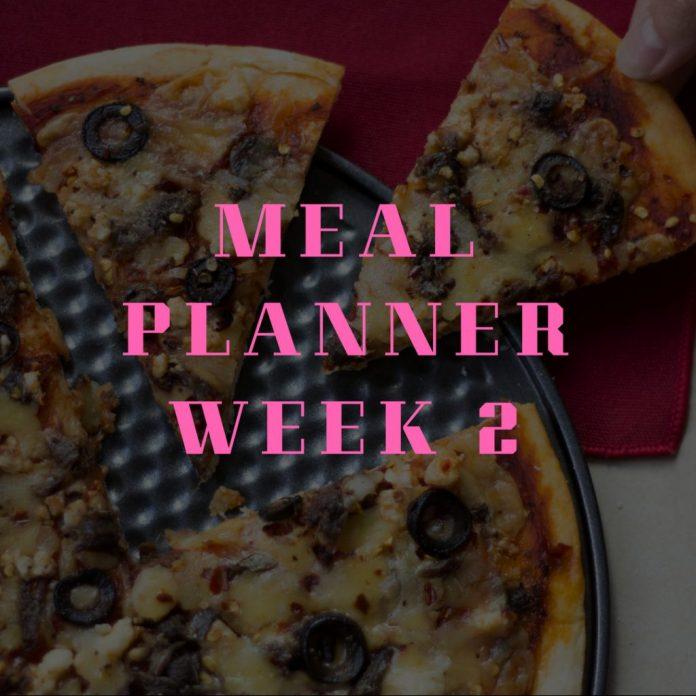 Meal Planning Week 2
