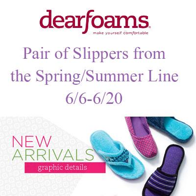 Dearfoams Spring/Summer Line Giveaway