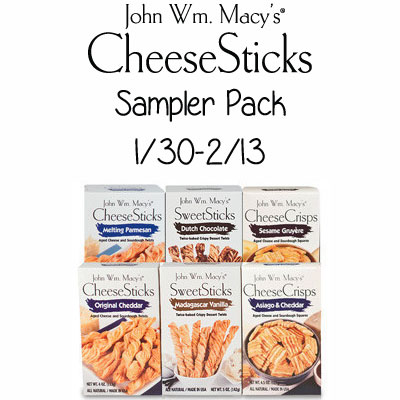 John Wm. Macy's Cheesesticks Sampler Pack Giveaway