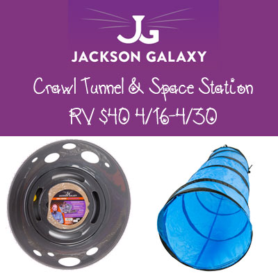 Jackson Galaxy Crawl Tunnel and Space Station RV $40