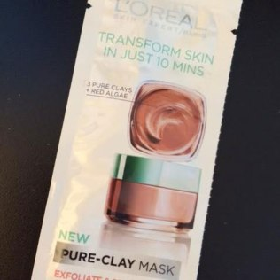 L'Oreal PURE-CLAY MASK Exfoliate & Refining Treatment Mask Review