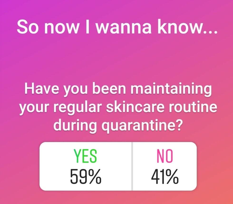 quarantine skincare habits covid-19