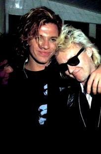 Roger with Michael Hutchence