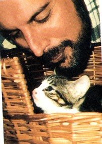 Freddie with cat