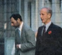 Freddie in 1991 with his doctor