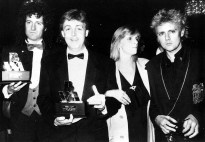 Brian and Roger with Paul McCartney Brian at the British Video Awards in 1986