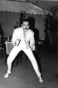 Freddie before Wembley gig 1986