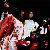 Freddie and Brian in 1974 - Sheer Heart Attack Tour