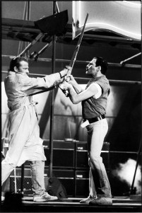 Freddie and Christopher Lambert in the Princes Of The Universe video