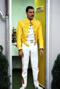 Freddie on Magic Tour - before gig