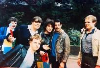 Freddie with fans, 1982