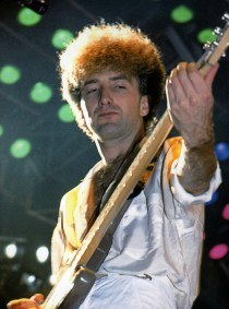 John live on stage on the European 'Works' tour in Aug-Sept 1984
