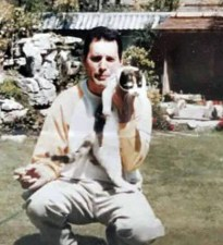 Freddie in Garden Lodge - Spring 1987