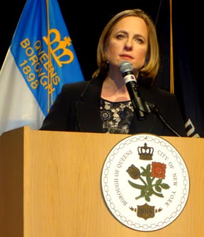 Melinda Katz, presidenta del condado de Queens.