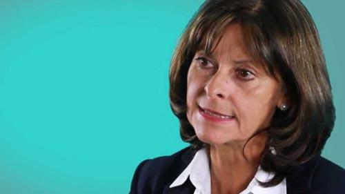 Martha Lucía Ramírez, ex candidata a la presidencia de Colombia.