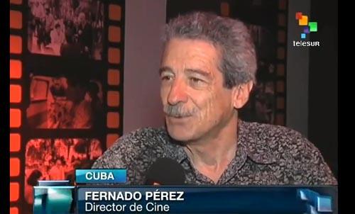 Fernando Pérez, director de La pared de las palabras.