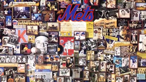The video shows part of the history of the NY Mets.