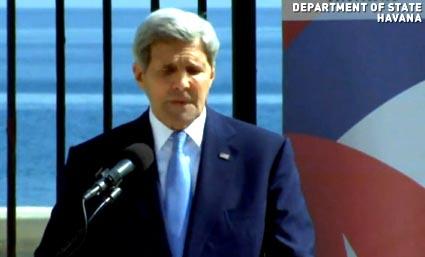 Secretario de Estado John Kerry en La Habana, Cuba.
