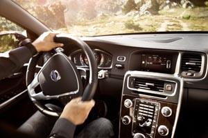 Interior del Volvo V60.