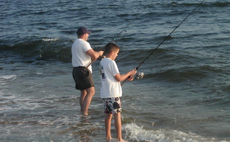 Padre e hijo en el Gateway National Recreation Area en Staten Island. Foto cortesía