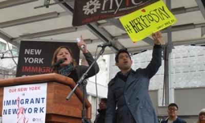 Los concejales Melissa Mark-Viverito y Carlos Menchaca. Fotos Humberto Arellano