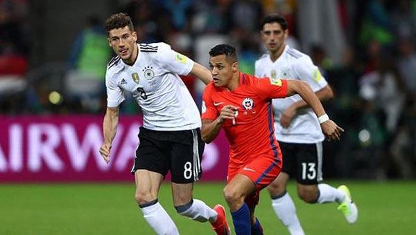 Los chilenos se plantaron bien ante los alemanes.