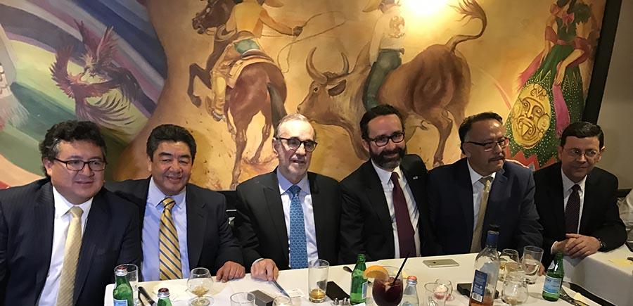 La recepción en el restaurante Mexican Festival del alto Manhattan.