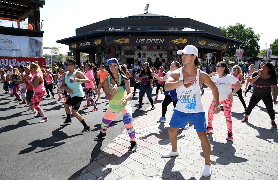 Queens Day festivities en el US Open. Foto USTA/Steve Freeman.
