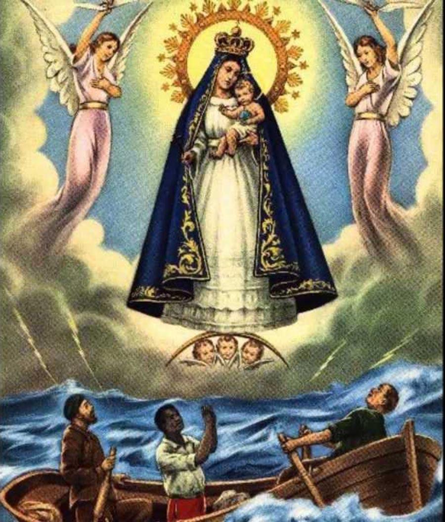 Virgen Caridad del Cobre canoa