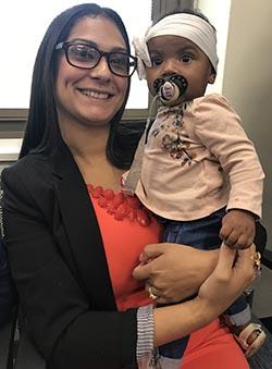 Sasha Williams y su hija de seis meses, Klynn Rose Williams.
