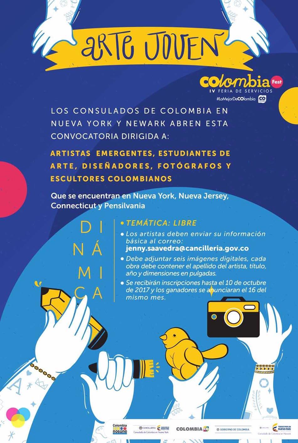 Consulado de Colombia concurso artistas