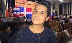 Ari Espinal en una escuela pública de Corona, Queens. Foto Javier Castaño