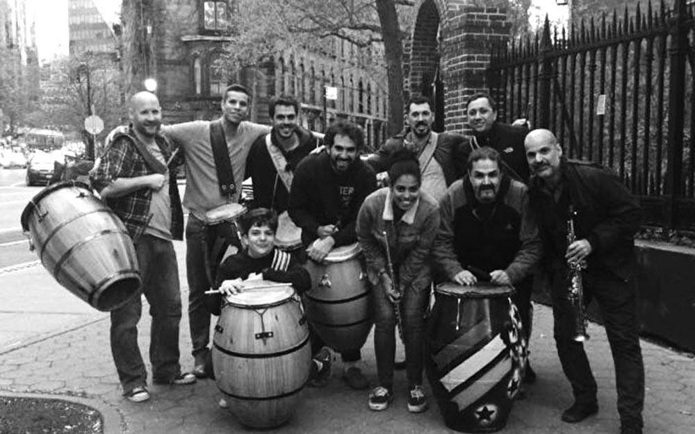 Las Llamadas con Favela Candombe Ensemble, con base en Nueva York