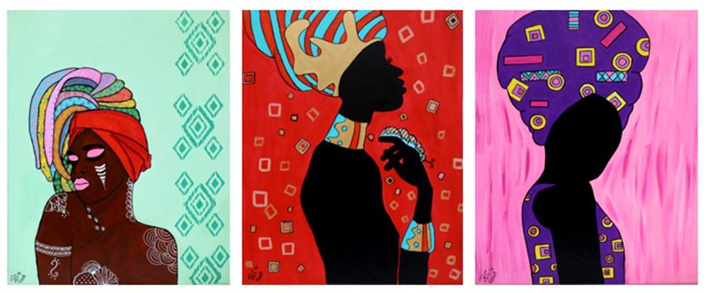 Trabajo artístico de la dominicana Ray C.