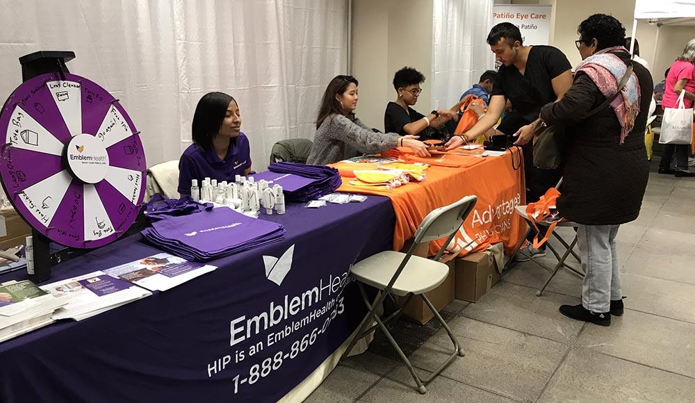 La mesa de EmblemHealth, empresa de seguros médicos en Estados Unidos.