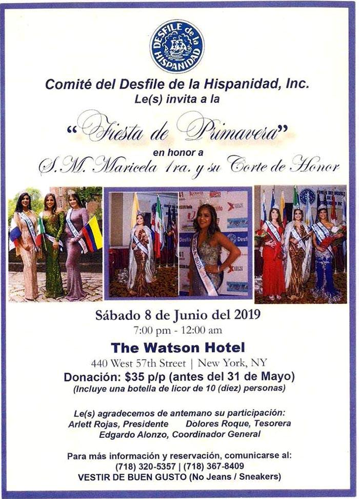Desfile de la Hispanidad con baile de primavera el 8 de junio