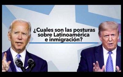 Trump y Biden y latinos