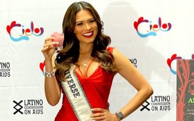 Miss Universo es madrina de Comisión Latina sobre el SIDA