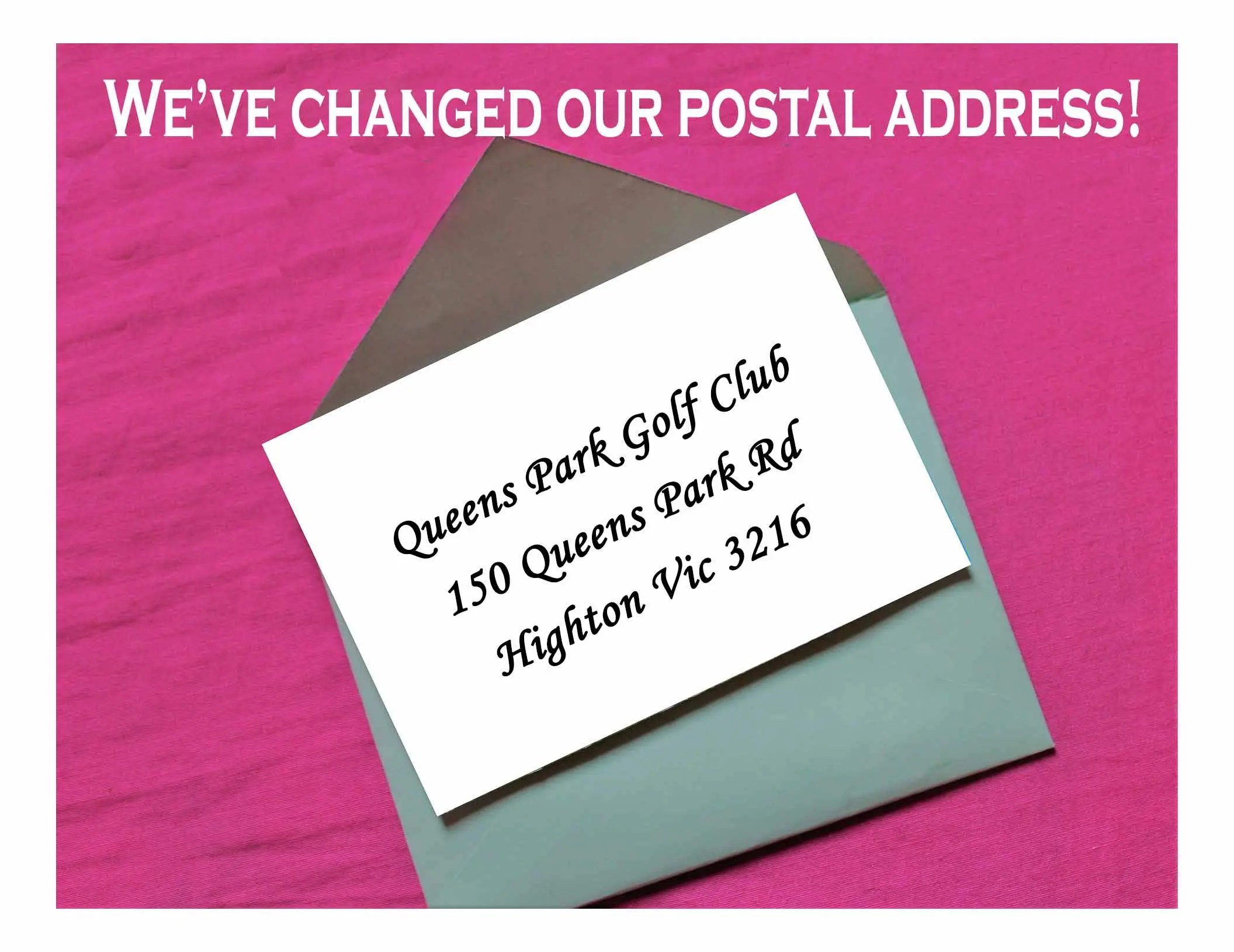 We've Changed Our Postal Address