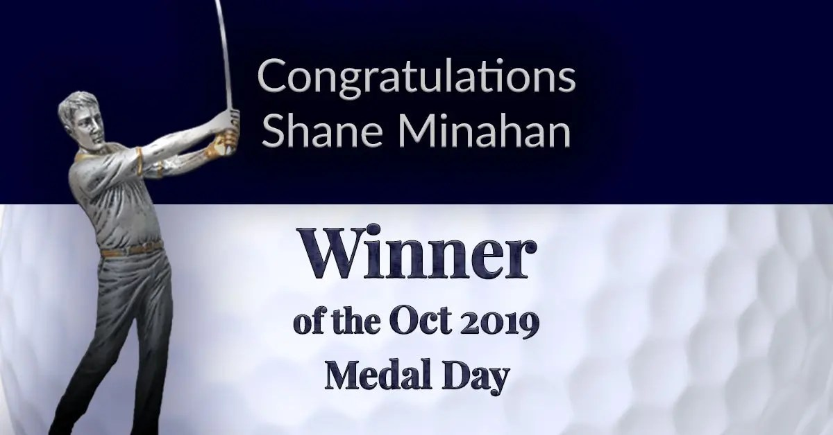 Congratulations Shane Minahan – Another Win!