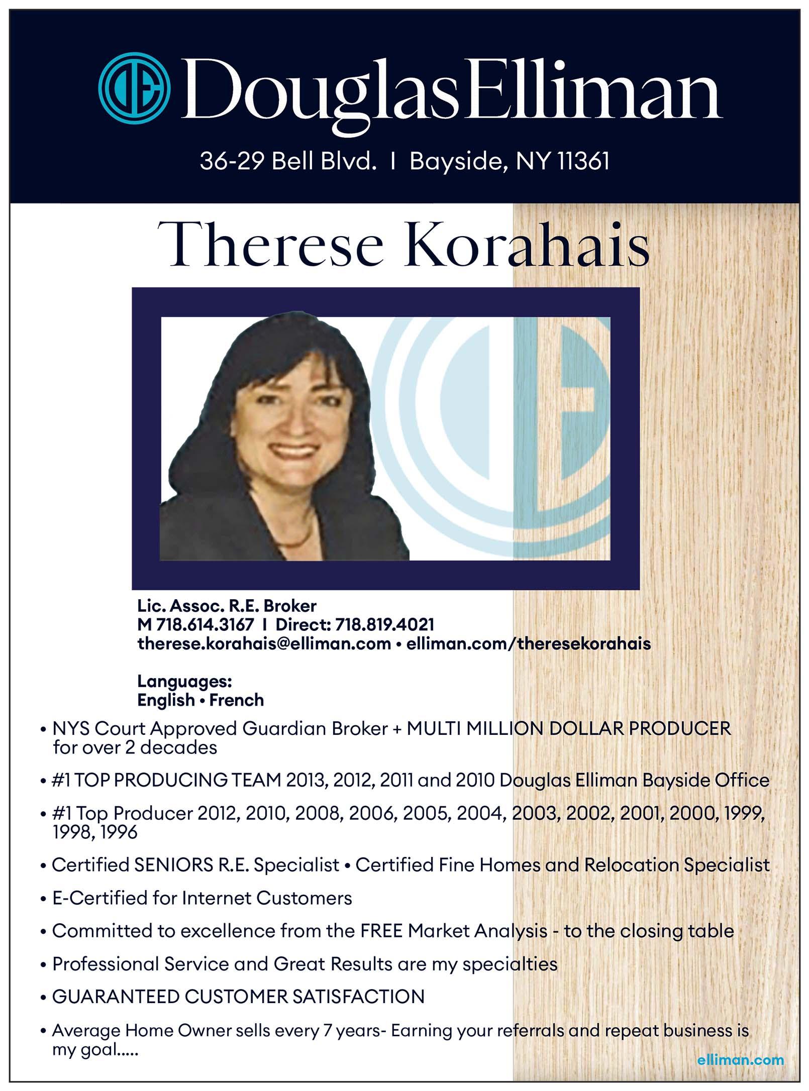Therese Korahais Realtor Ad