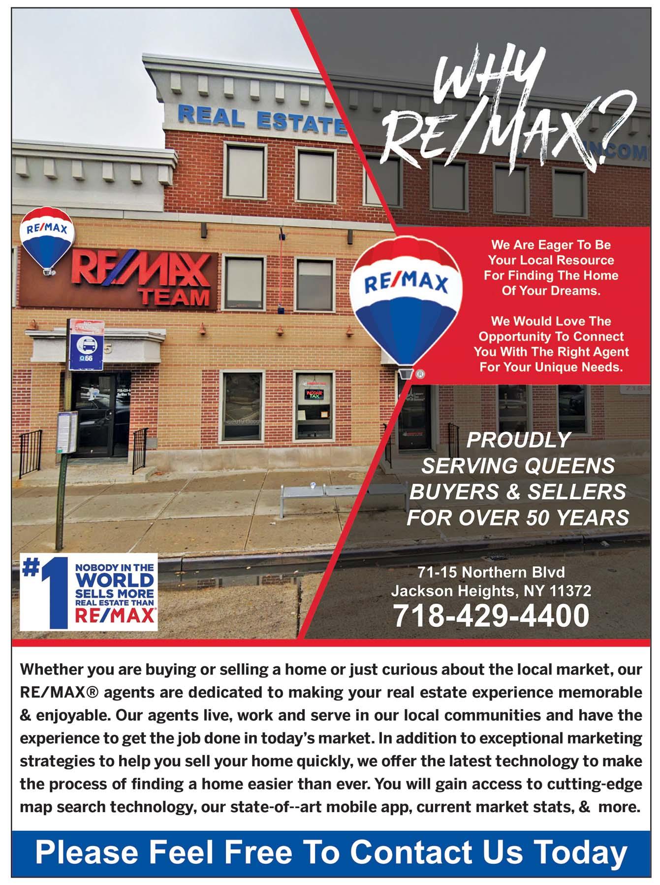 RE/MAX Team Realtor Ad