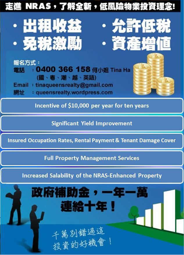 NRAS Investment Property 國民租房補貼計劃的投資性房地產