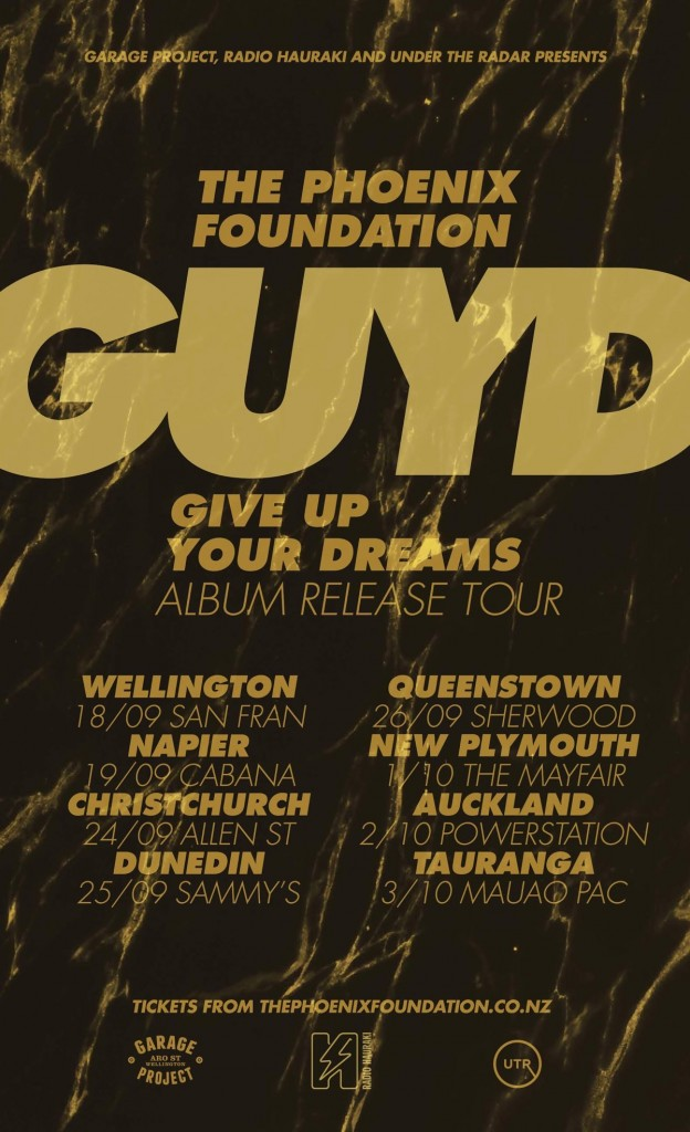 The Phoenix Foundation GUYD tour poster