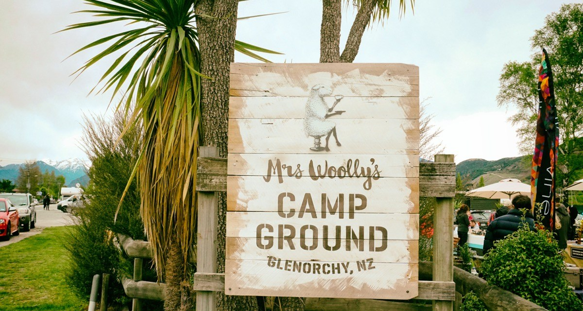 Glamping at Mrs Woolly's Campground