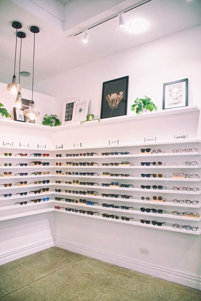 sunglasses on Ocula shelf